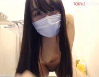 マスクも外す激可愛いアイドル顔で抱き心地間違いなし全裸の美少女がお風呂でオマンコにシャワー当ても!!![ライブチャット無修正動画]